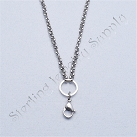 24 Inch Stainless Steel O-Ring 4mm Rolo Chain for Floating Locket